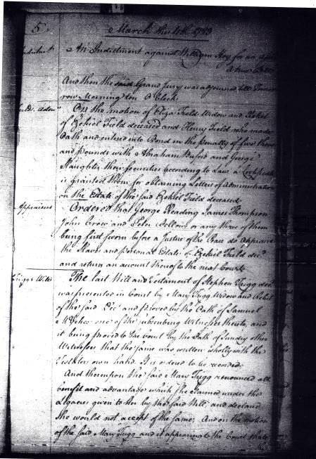 Order Book A, Virginia Supreme Court-District of Kentucky, - Mar. 11, 1783 (p.1)