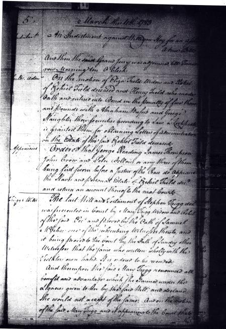 Order Book A, Virginia Supreme Court-District of Kentucky, - Mar. 11, 1783 (p.1)
