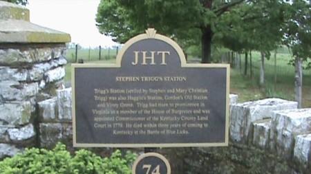 Trigg's Station Historical Marker