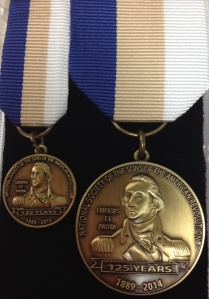 SAR 125th Anniversary George Washington Medal