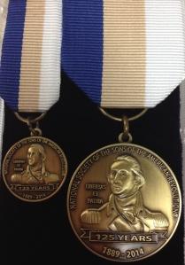 SAR 125th Anniversary George Washington Medal