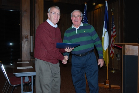 James Sumner Receives the Chapter Distinguished Service Medal