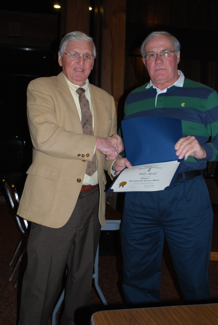 Billy Redd Receives the Chapter Distinguished Service Medal