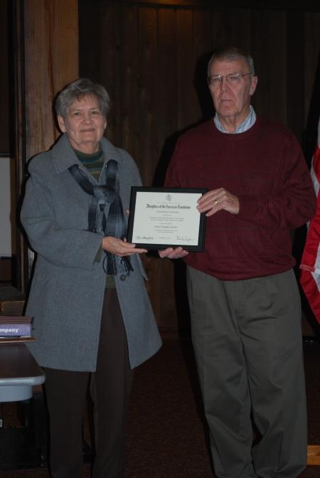 James Sumner Receives the National DAR Conservation Award