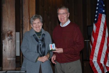 James Sumner Receives the Medal for the National DAR Conservation Award