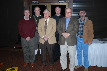 2014 Officers: (l to r) Treasurer James Sumner, President Geoff Baggett, Chaplain Billy Redd, Vice-President Tony Ramey, Registrar Steve Mallory, Historian Bobby Skinner