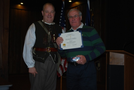 Ken Oakley Receives the Bronze (Chapter) Roger Sherman Medal