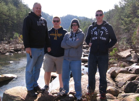 (l to r) Travis, Ryan, Connor, and Dallas McCloud