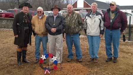 Compatriots at the Monument (l to r - Geoff Baggett, Billy Redd, Steve Mallory, Jerry Burlingame, James Sumner, Ken Oakley)