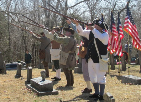 The musket salute detail.