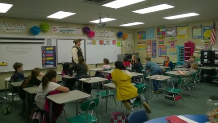 Compatriot Baggett Speaking to Mrs. Wallace's Class