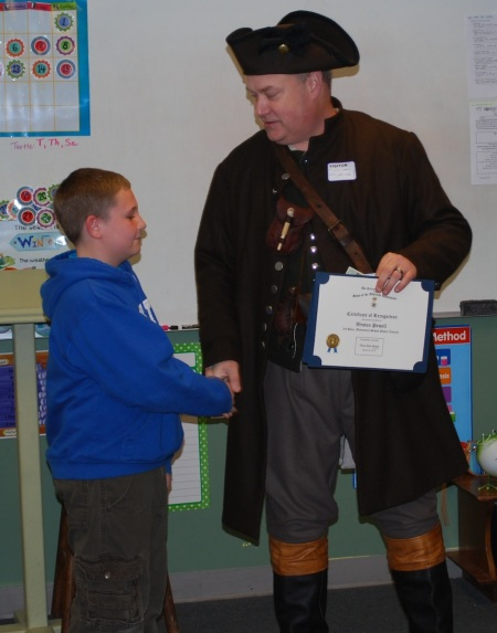 Weston Powell Receives the Congratulations of Compatriot Baggett