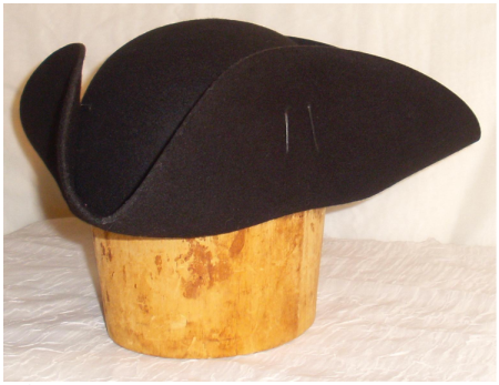 The Brown Felt Basic Tricorn - From White Pavilion Clothiers