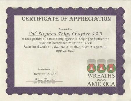 WAA Certificate