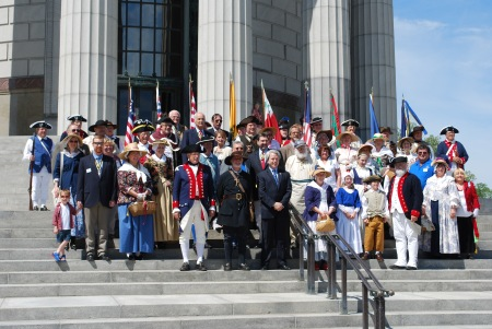 The entire group of participants at the George Rogers Clark Memorial Service.