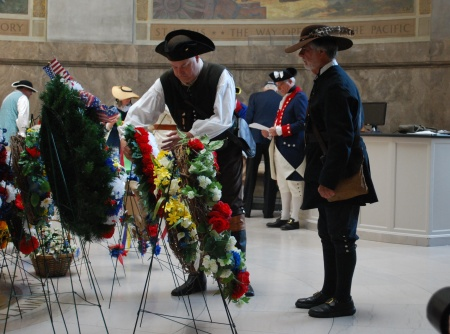 Placing the Chapter Wreath