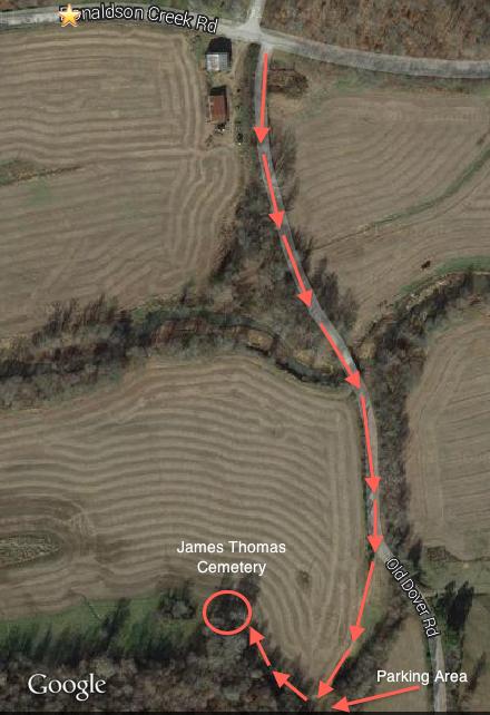 James Thomas Cemetery Map