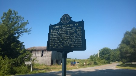 Historical Marker on Donaldson Creek Rd.