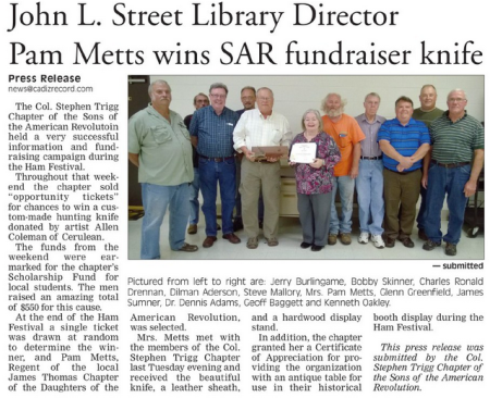 Cadiz Record Story - October 29, 2014