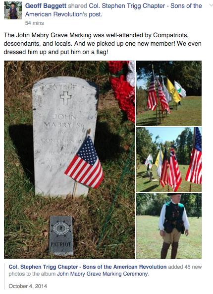 John Mabry Grave Marking Photo Album