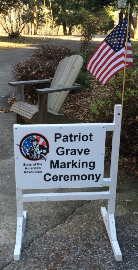 Grave Marking Ceremony Sign