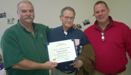 Compatriot Jerry Burlingame, Medal Recipient David Smith, Compatriot Tony Dothsuk