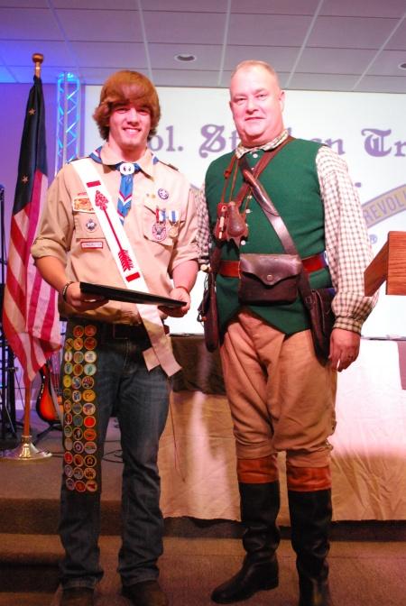 Dalton Hendricks Receives the Eagle Scout Medal.