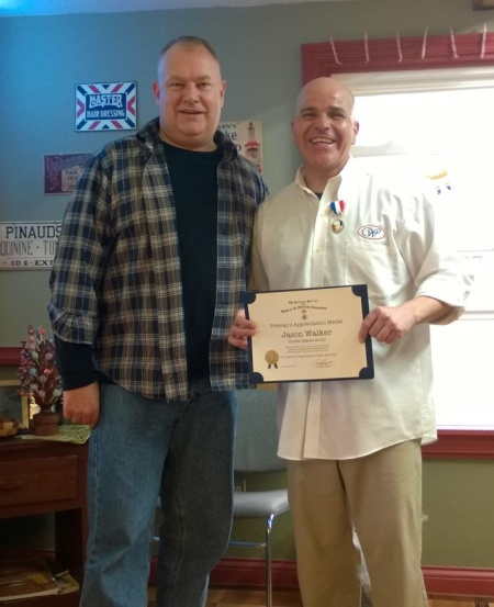 Geoff Baggett Honors his Barber!  Jason Walker, U.S. Army (Recently Returned from Afghanistan)