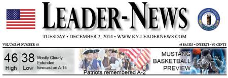 Times-Leader Banner  12/2/14