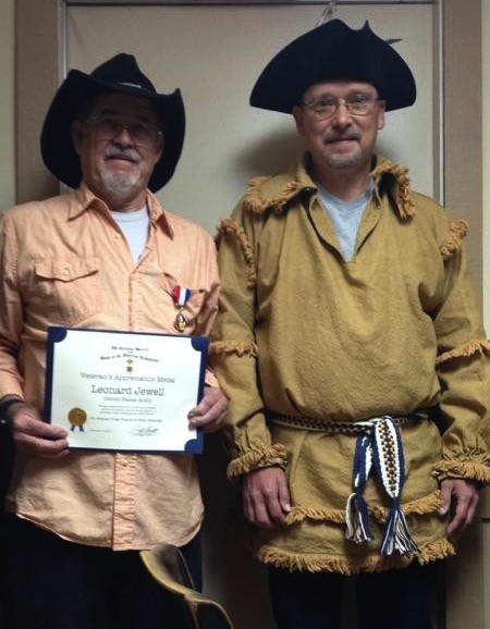 Leonard Jewell, United States Army, Honored by Dilly Anderson