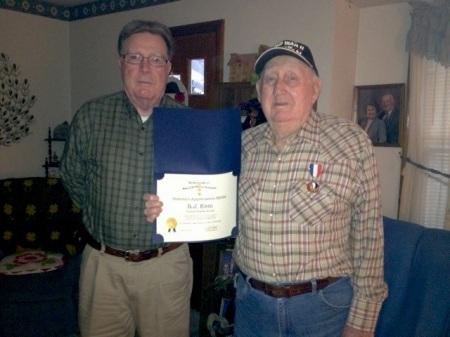 Compatriot Ron Drennan and Medal Recipient R.J. Kem
