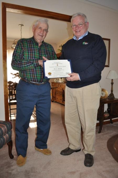 USMC World War II Veteran H.C. Beck and CST Compatriot John Humphries