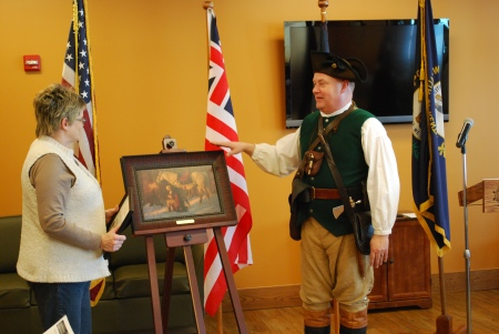 Cissy Lawrence Receives the Friberg Painting