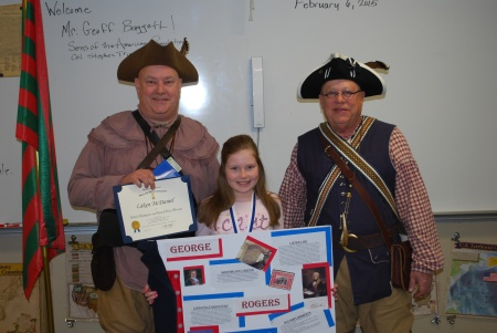 Geoff Baggett, Poster Champion Laken McDaniel, and Steve Mallory