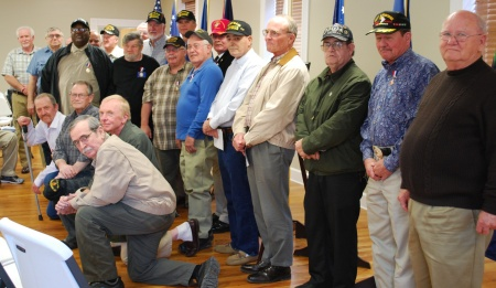 The Vietnam Veterans Honored at Sunday's Event