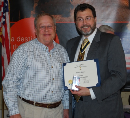 Steve Mallory and Outgoing KYSSAR President Doug Collins