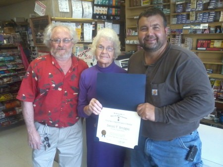 Glenn Greenfield, Mrs. Ruth Bridges, and Scott Bridges