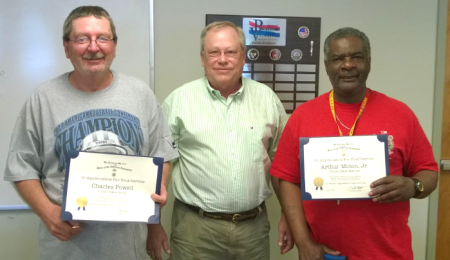Charles Powell, Steve Mallory, and Charles Moton