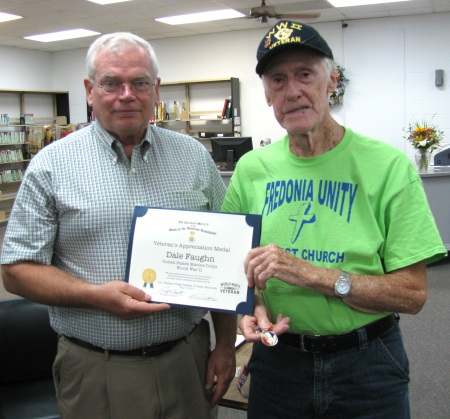 John Humphries and USMC Veteran Dale Faughn
