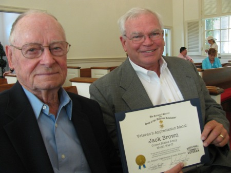 Honoree Jack Brown and Compatriot John Humphries