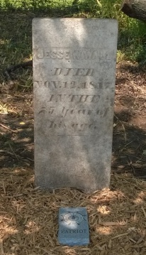 Jesse Wall's Restored Stone and SAR Patriot Marker