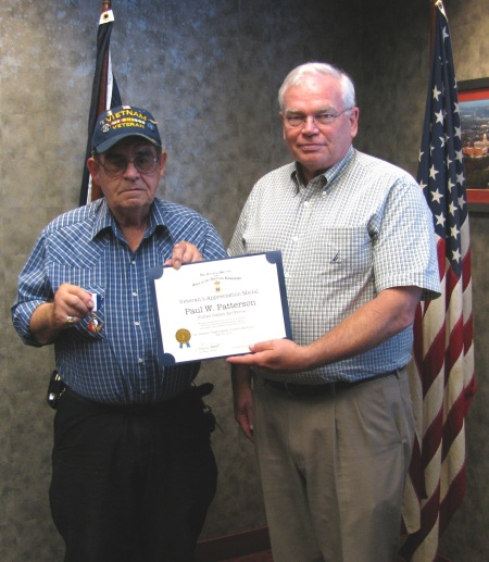 Veteran Paul W. Patterson and SAR Member John Humphries