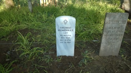 The New Thomas Humphries Headstone