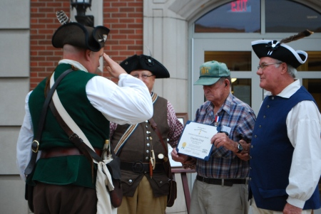 Chapter President Geoff Baggett Salutes American Patriot Charles Gray, Veteran of World War II
