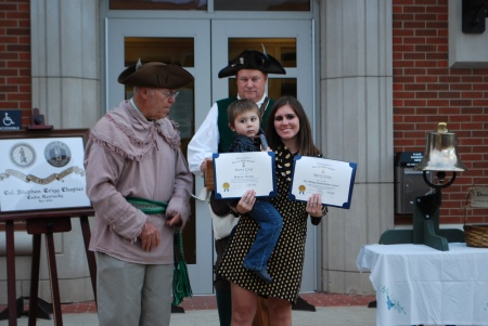 Reed and Kayla Phillips Receive the Awards for Barry Gray